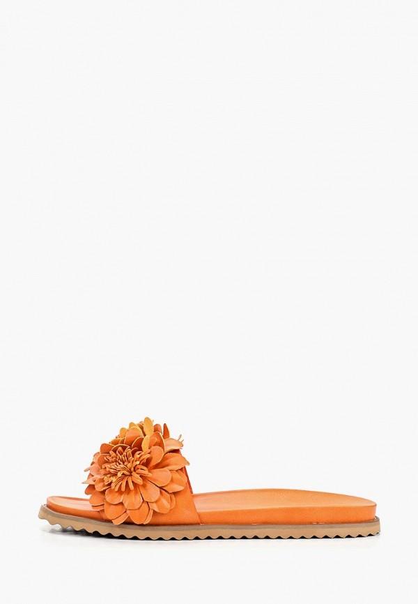 женское сабо rio fiore, оранжевое