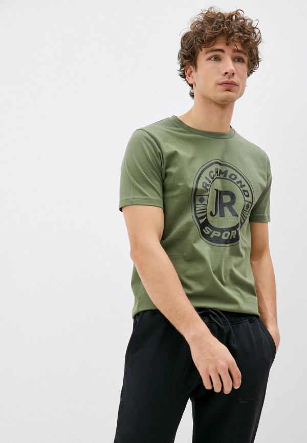 мужская футболка richmond sport, зеленая
