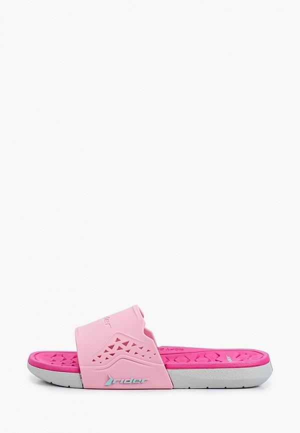 сланцы rider для девочки, розовые