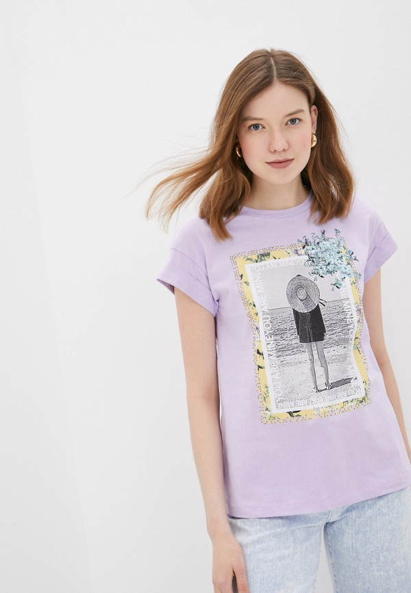 женская футболка rich&royal, фиолетовая