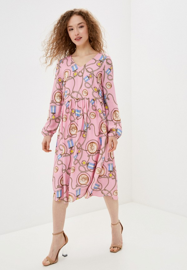женское повседневные платье rich&royal, розовое