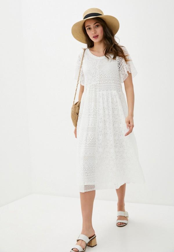 женское повседневные платье rich&royal, белое