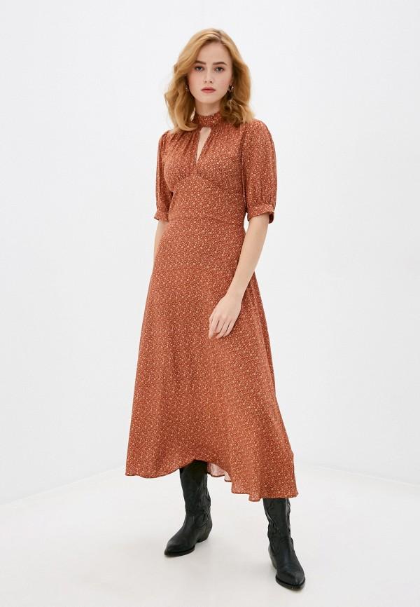 женское повседневные платье rich&royal, коричневое