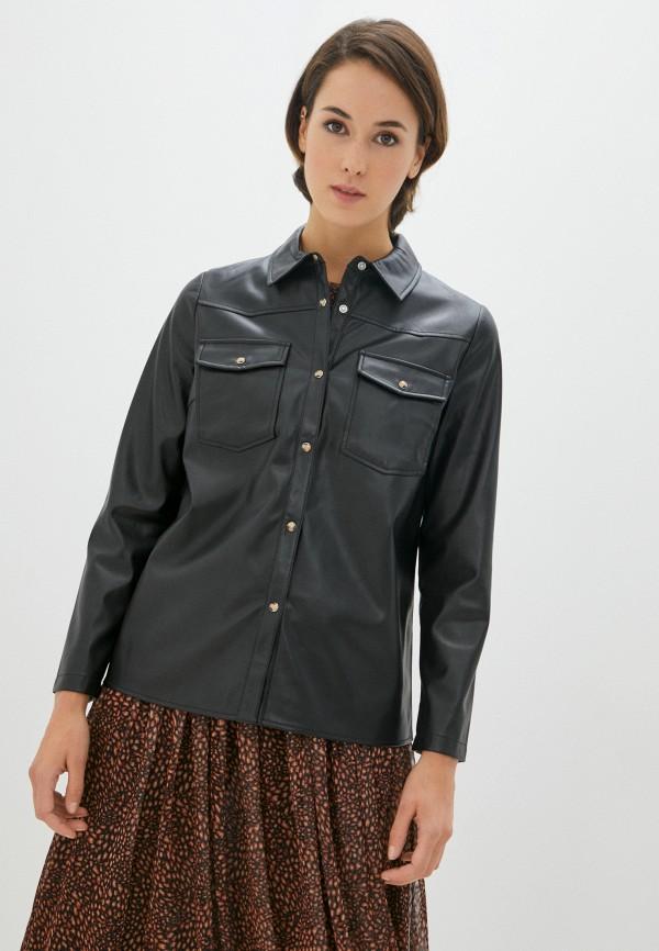 женская рубашка с длинным рукавом rich&royal, черная