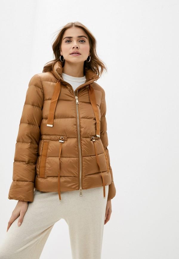 женская куртка rich&royal, коричневая