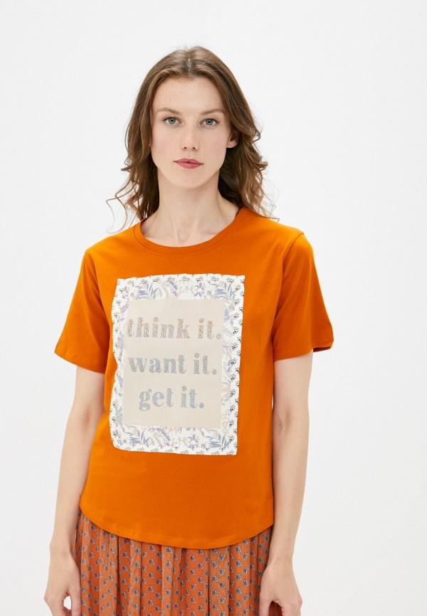 женская футболка rich&royal, оранжевая