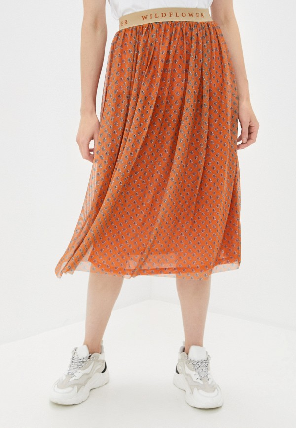 женская юбка rich&royal, оранжевая