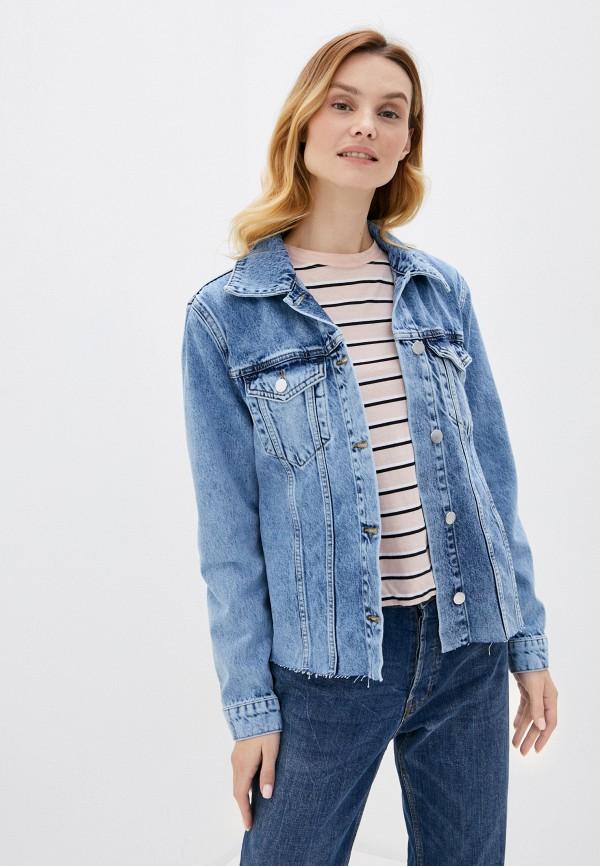 женская джинсовые куртка rich&royal, голубая