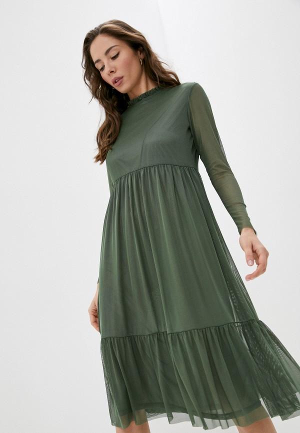 женское повседневные платье rich&royal, зеленое