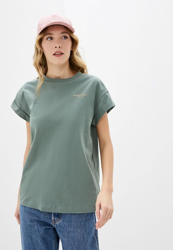 женская футболка rich&royal, зеленая