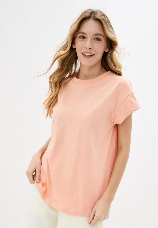 женская футболка rich&royal, розовая