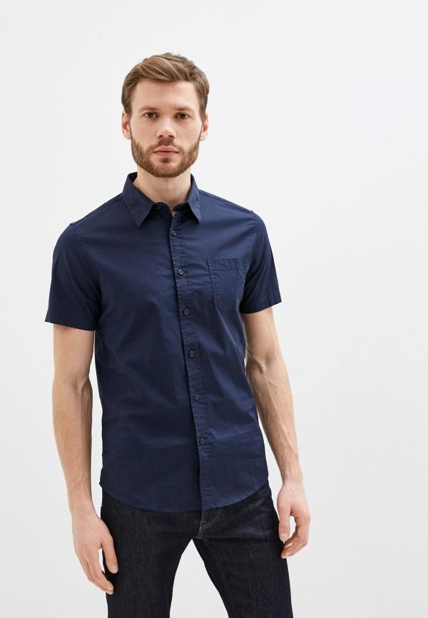 мужская рубашка с коротким рукавом rifle, синяя