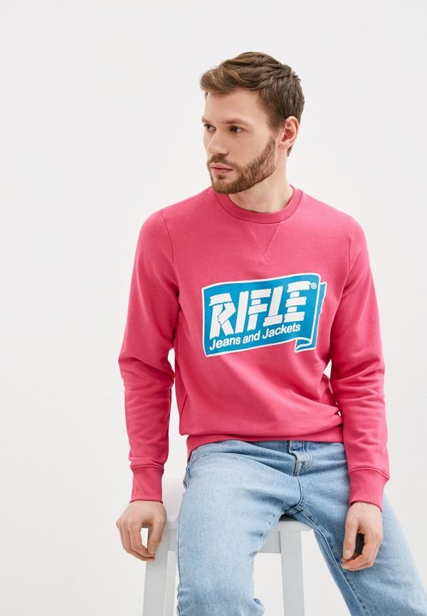 мужской свитшот rifle, розовый