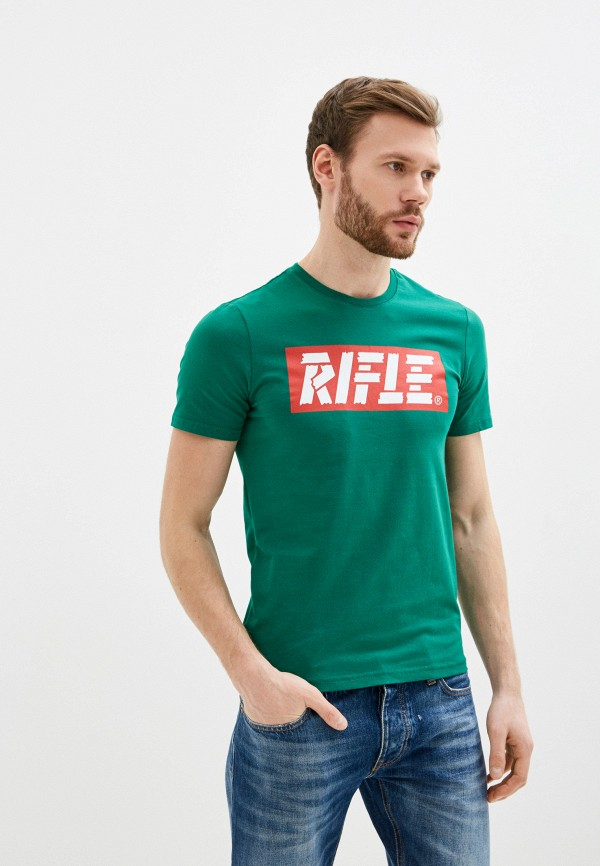 мужская футболка с коротким рукавом rifle, зеленая