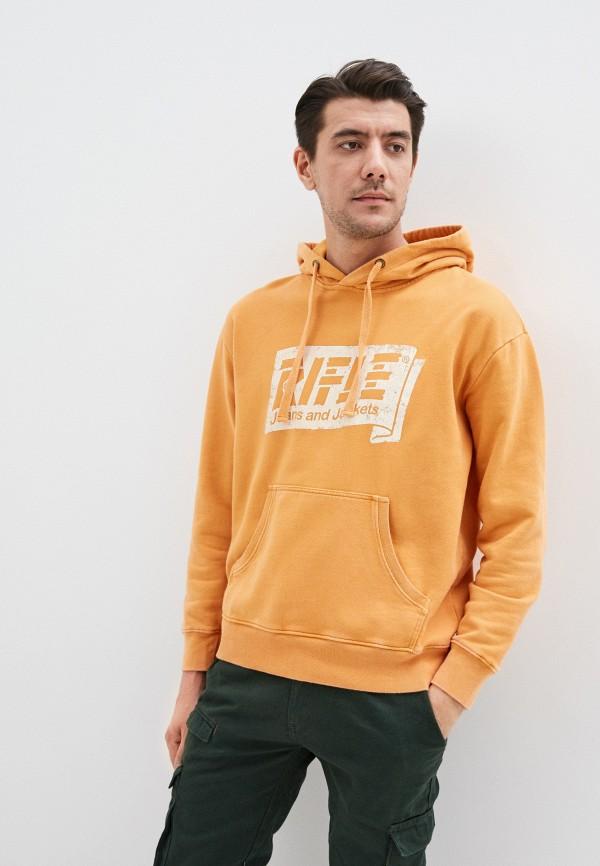 мужские худи rifle, оранжевые