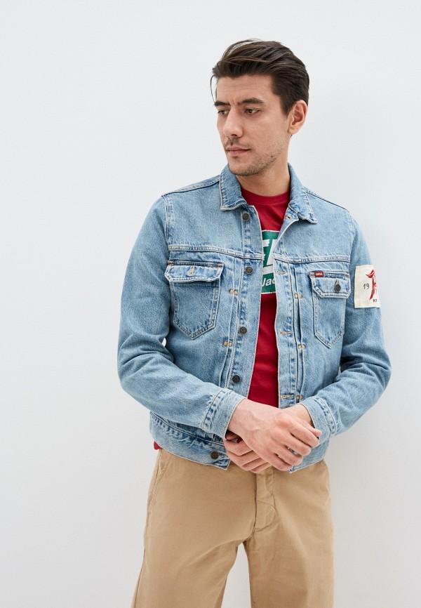 мужская джинсовые куртка rifle, голубая