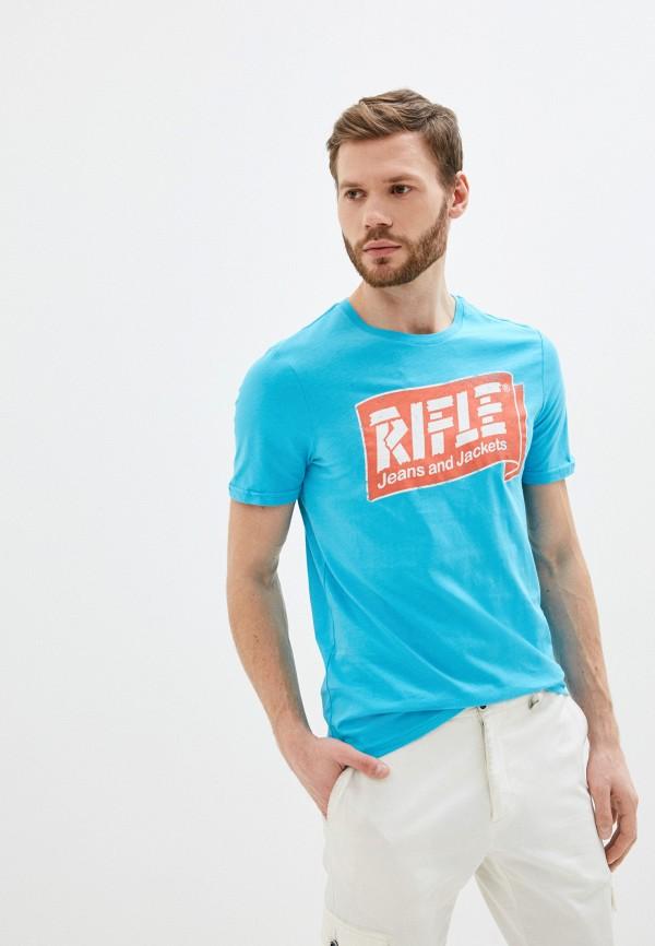 мужская футболка с коротким рукавом rifle, бирюзовая