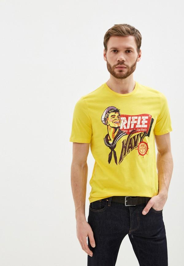 мужская футболка с коротким рукавом rifle, желтая