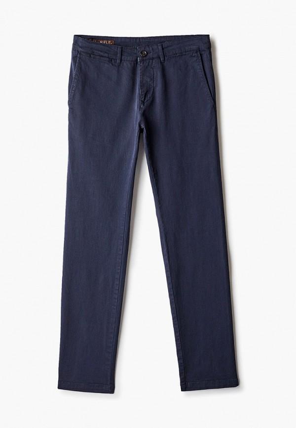 мужские зауженные брюки rifle, синие