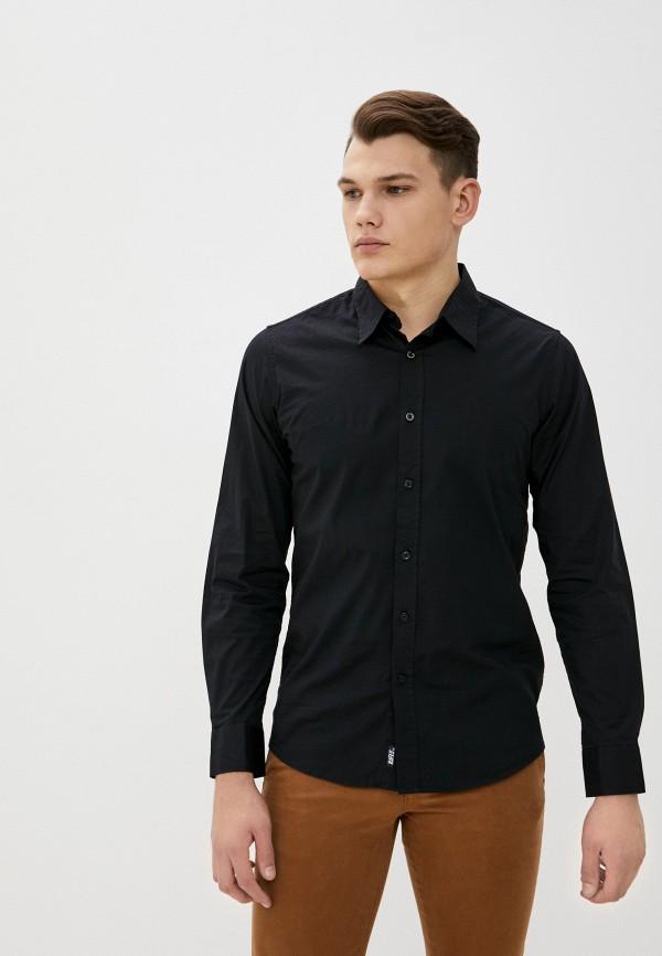 мужская рубашка с длинным рукавом rifle, черная