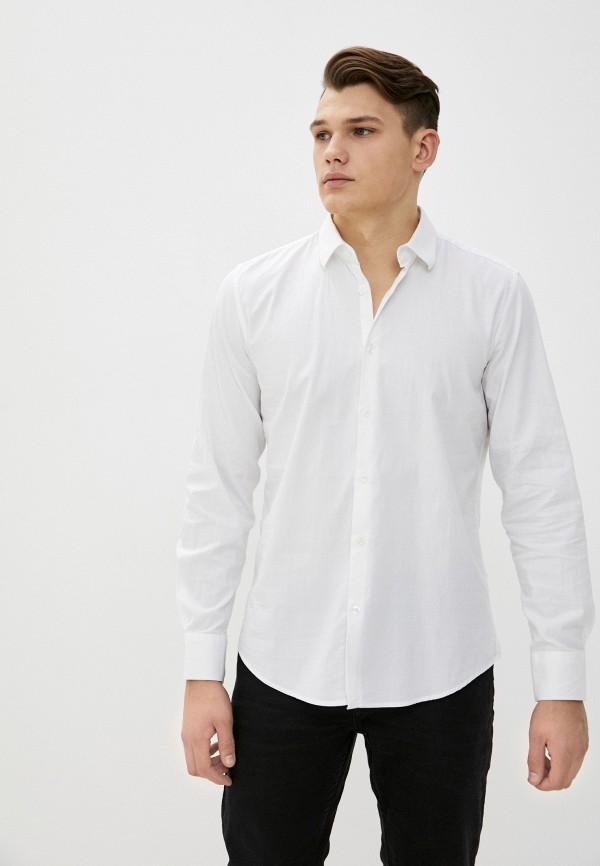 мужская рубашка с длинным рукавом rifle, белая