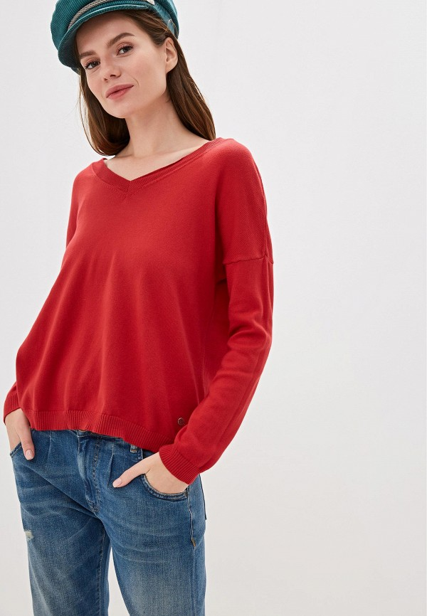 женский пуловер rifle, красный