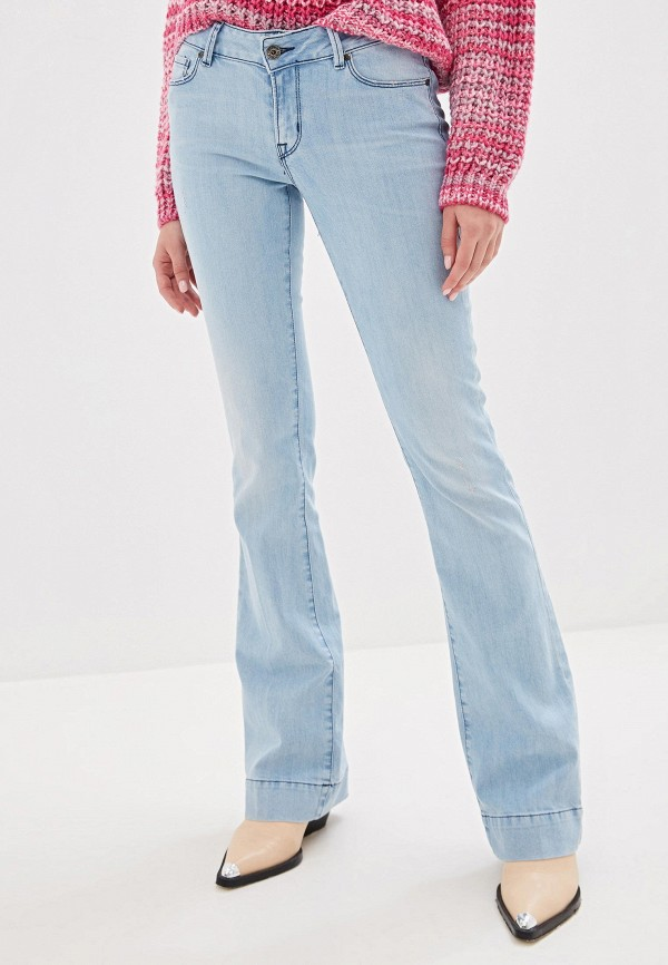 женские джинсы клеш rifle, голубые