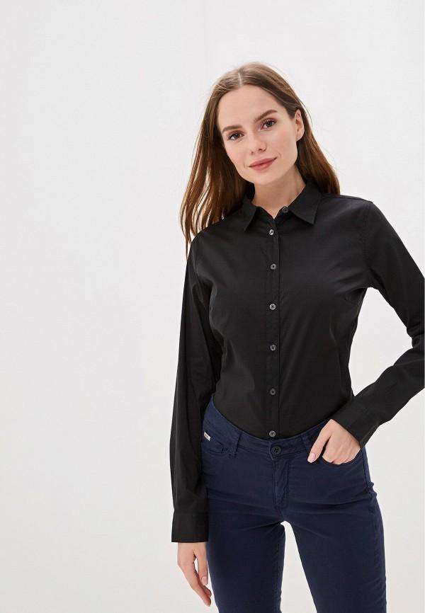женская рубашка с длинным рукавом rifle, черная