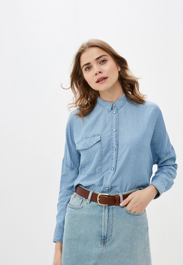 женская рубашка с длинным рукавом rifle, голубая