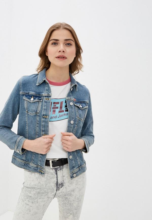 женская джинсовые куртка rifle, синяя