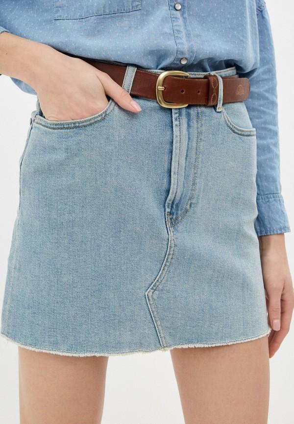 женская джинсовые юбка rifle, голубая
