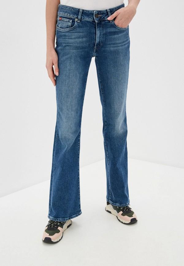 женские джинсы клеш rifle, синие