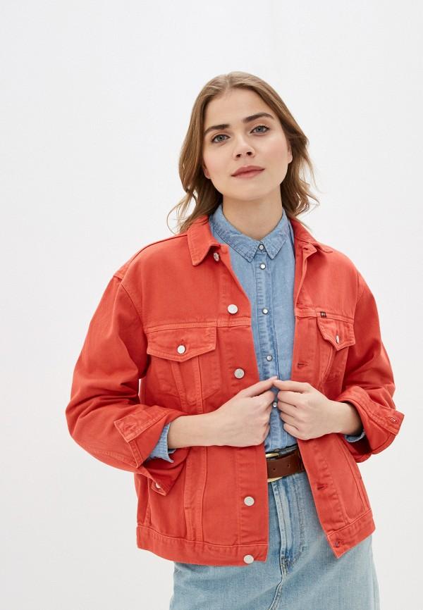 женская джинсовые куртка rifle, красная