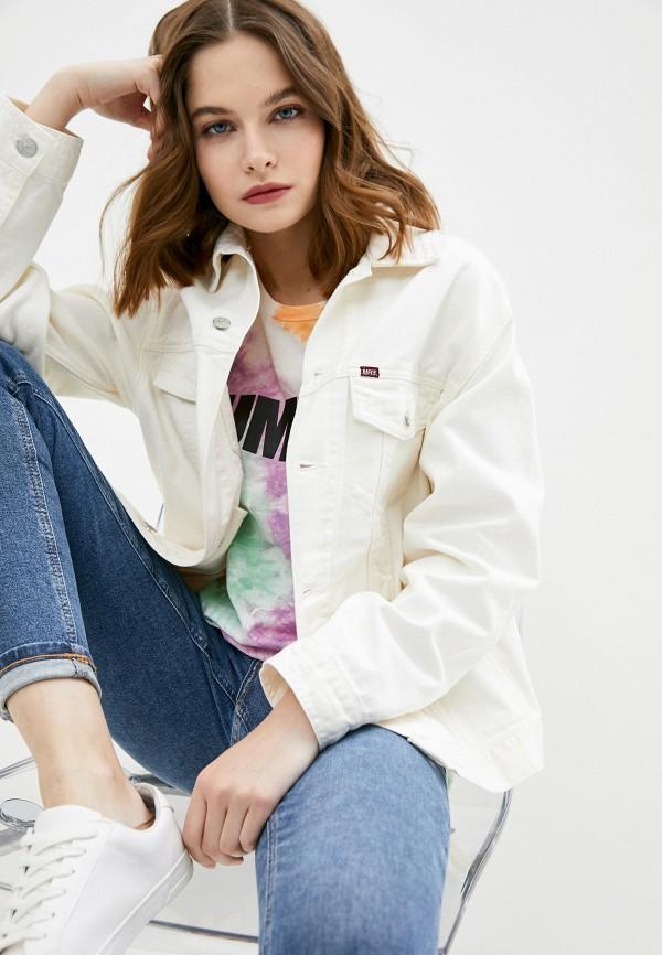 женская джинсовые куртка rifle, белая