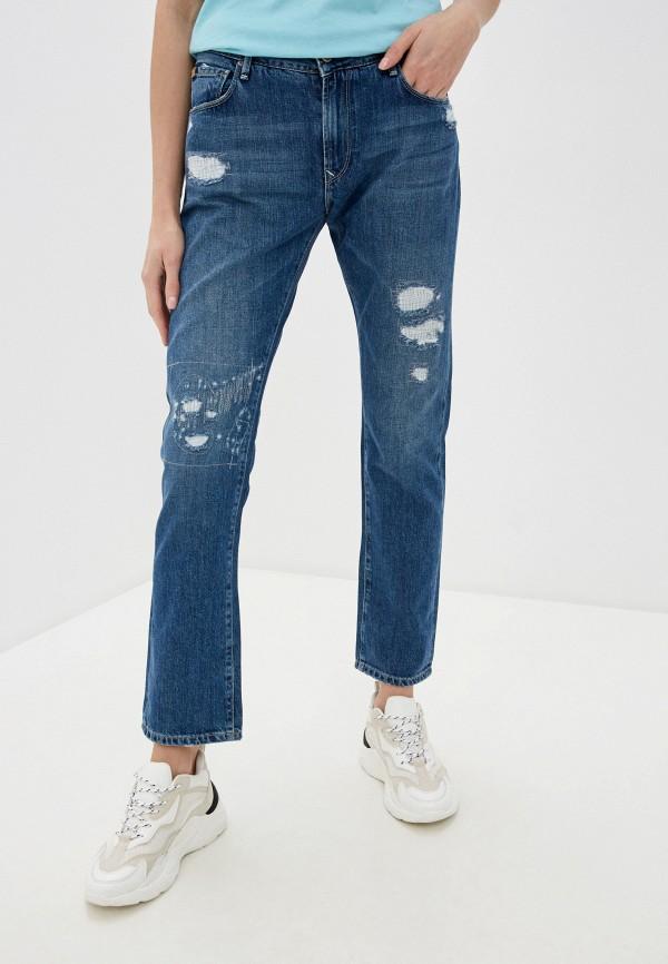 женские прямые джинсы rifle, синие