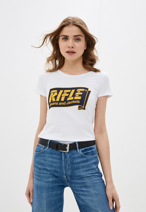 женская футболка rifle, белая