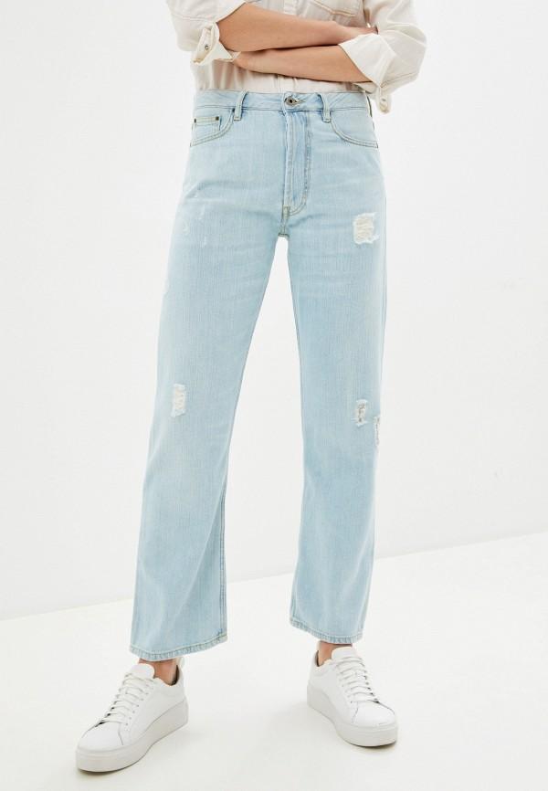 женские прямые джинсы rifle, голубые