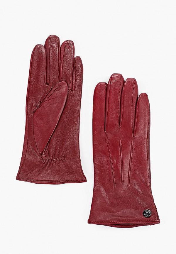 женские перчатки roeckl, бордовые