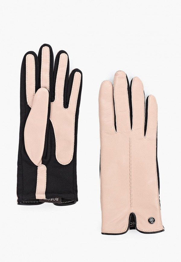 женские перчатки roeckl, розовые