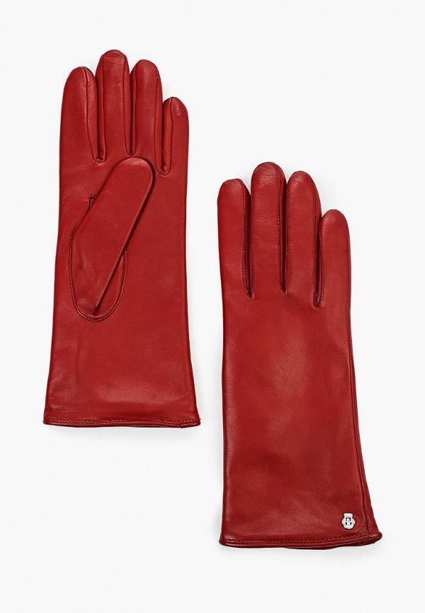 женские перчатки roeckl, красные