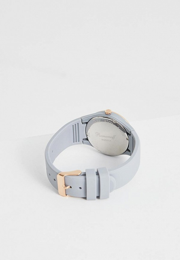 Фото 2 - Женские часы Romanoff серого цвета