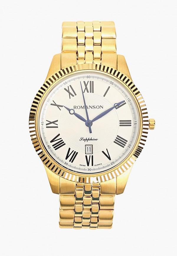 мужские часы romanson, золотые