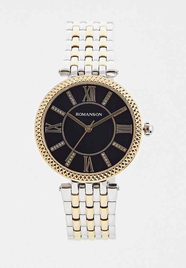 женские часы romanson, серебряные