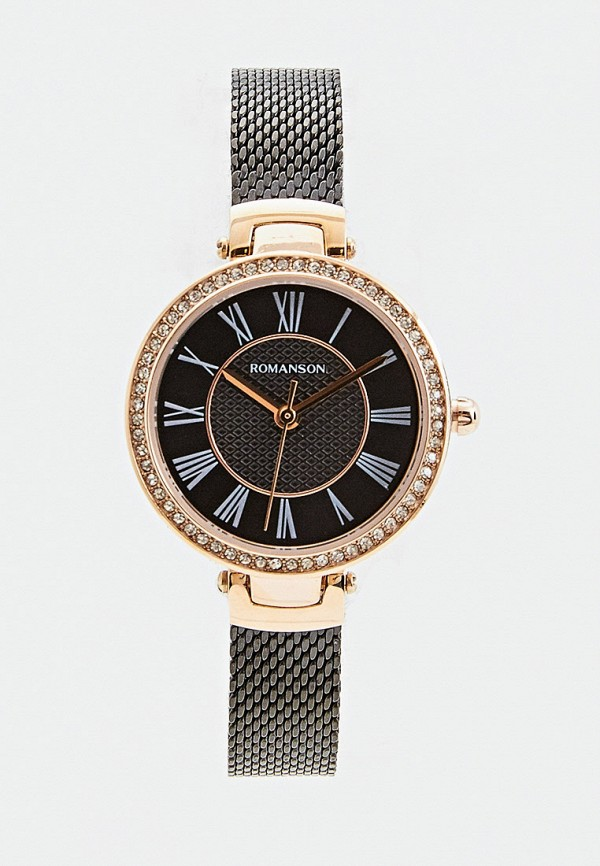 женские часы romanson, коричневые