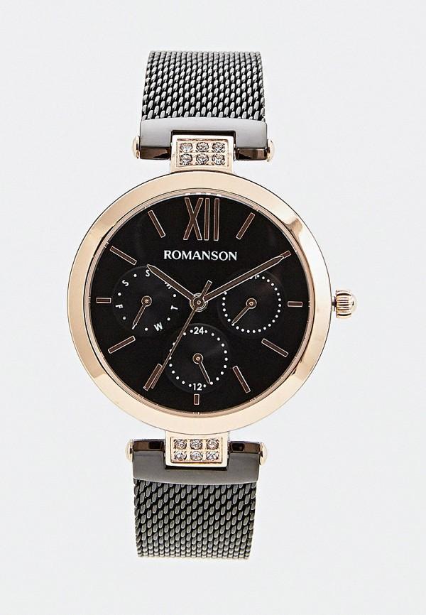 женские часы romanson, черные