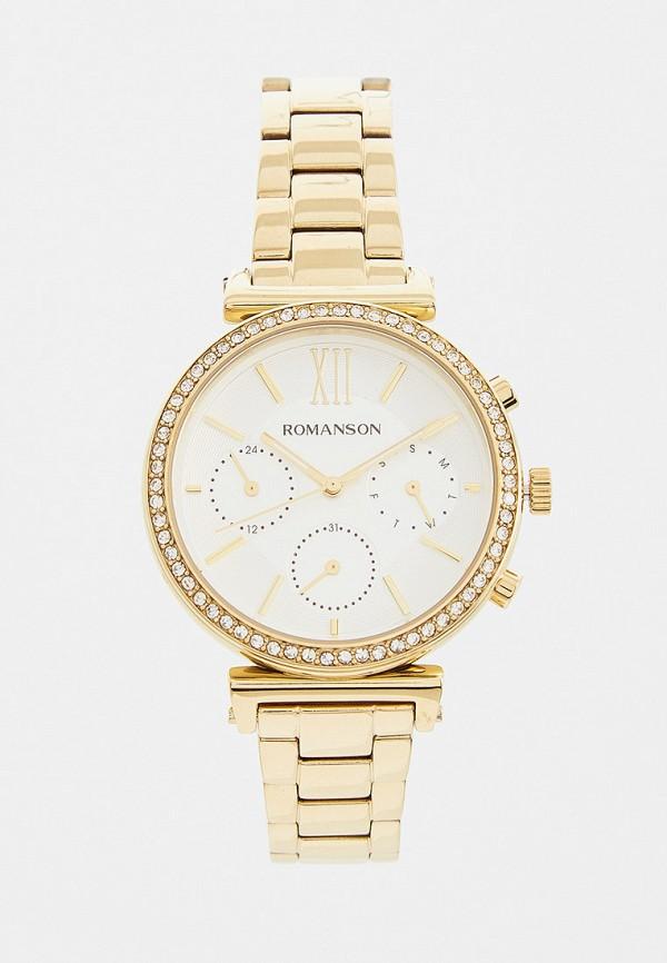 женские часы romanson, золотые