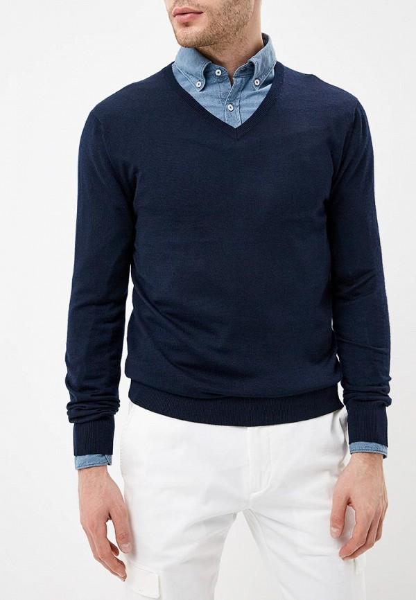 мужской пуловер rodier, синий