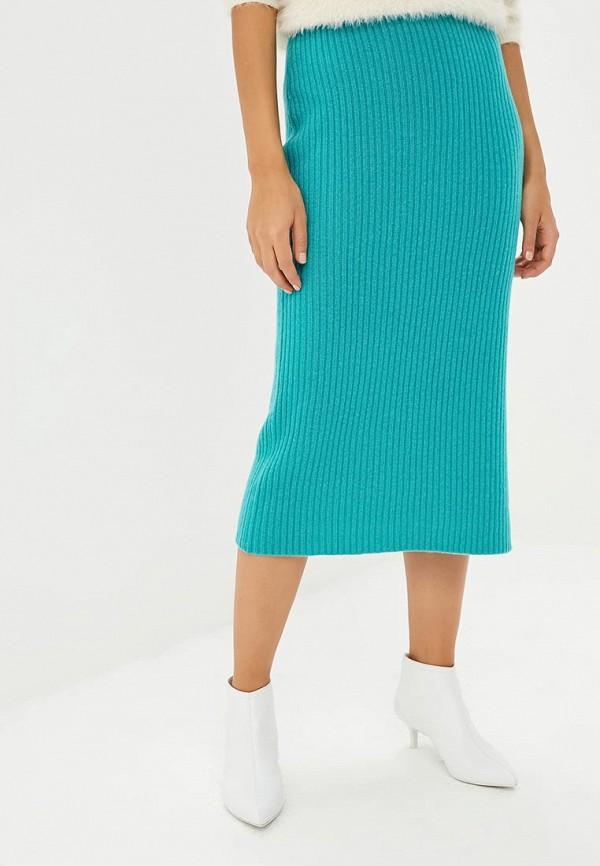 женская прямые юбка rodier, зеленая