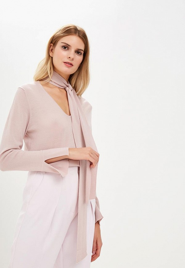 женский пуловер rodier, розовый