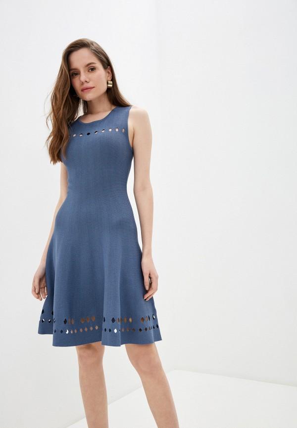 женское повседневные платье rodier, синее